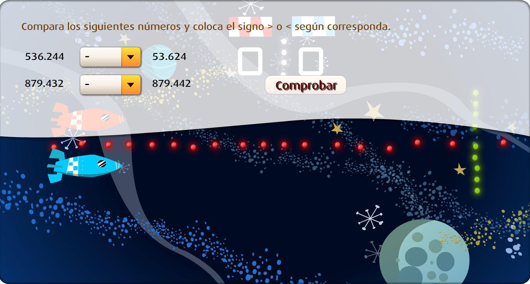 Ordena y compara números naturales
