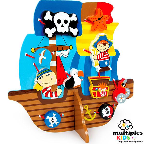 Coser el barco pirata