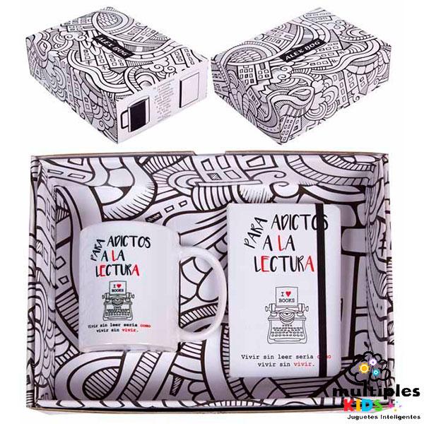 Kit de libreta con taza para los adictos a la lectura