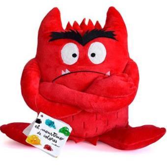 Peluche el monstruo de color Rojo