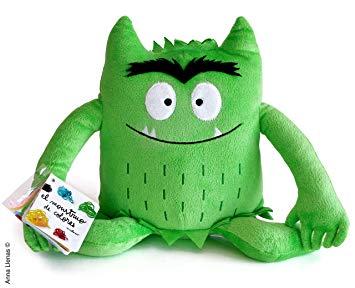 Peluche Monstruo de colores Verde