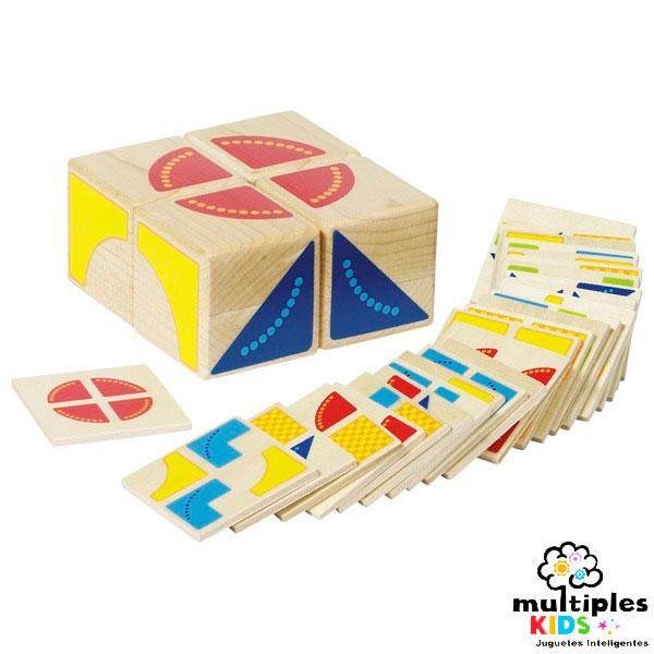 kubus puzzle formas geométricas