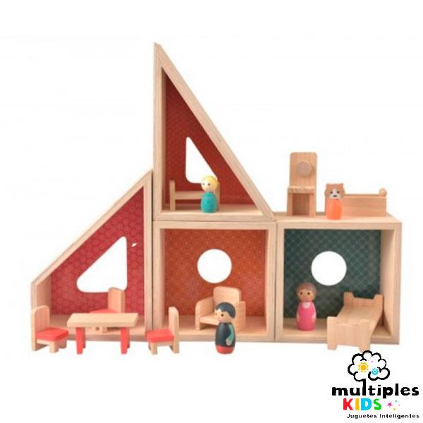 Casa móvil de muñecos