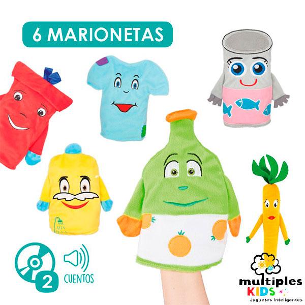 Marionetas vida del reciclado