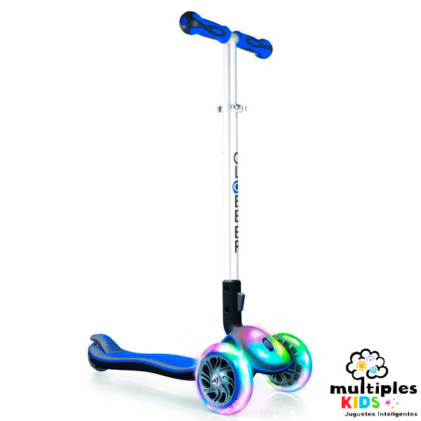Patinete multi luces azul