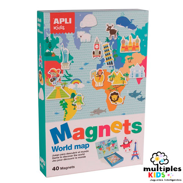 Magnets world map Apli