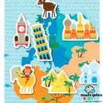 Magnets world map Apli