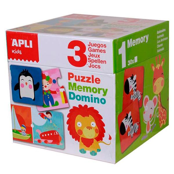 Puzle Memory y Dominó Apli