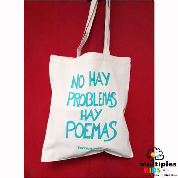 Bolsa de tela No hay problemas hay poemas