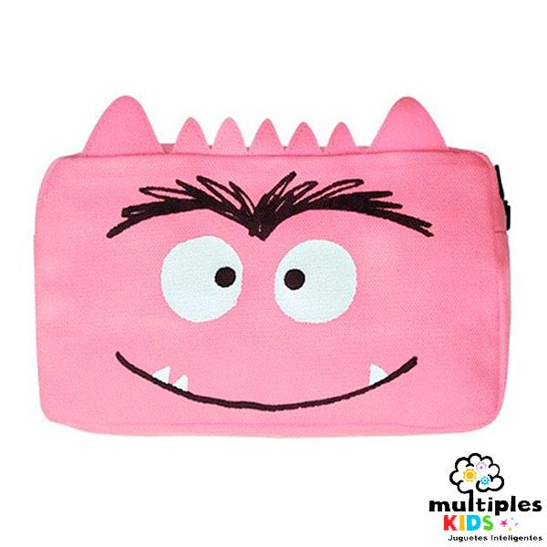 Estuche el monstruo de colores rosa