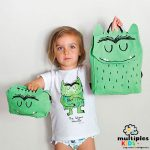 Mochila Monstruo de colores verde