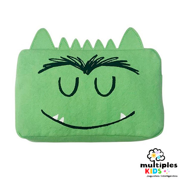 Estuche el monstruo de colores verde