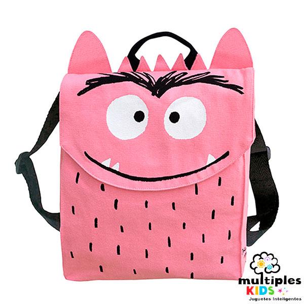Mochila Monstruo de colores rosa