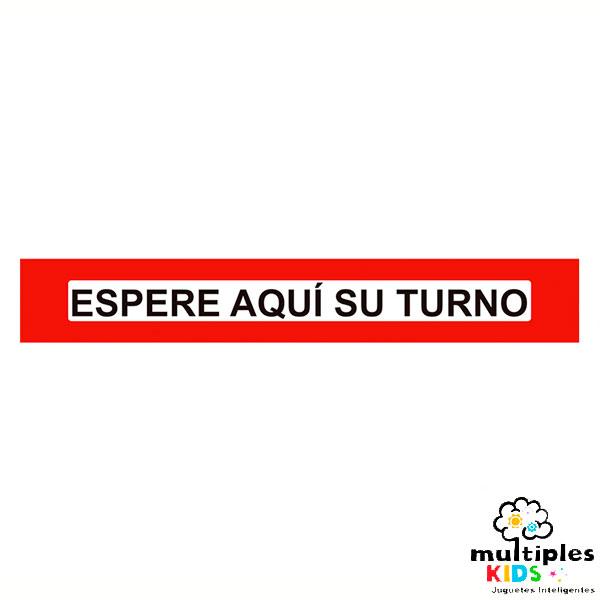 VINILO ESPERE AQUÍ SU TURNO