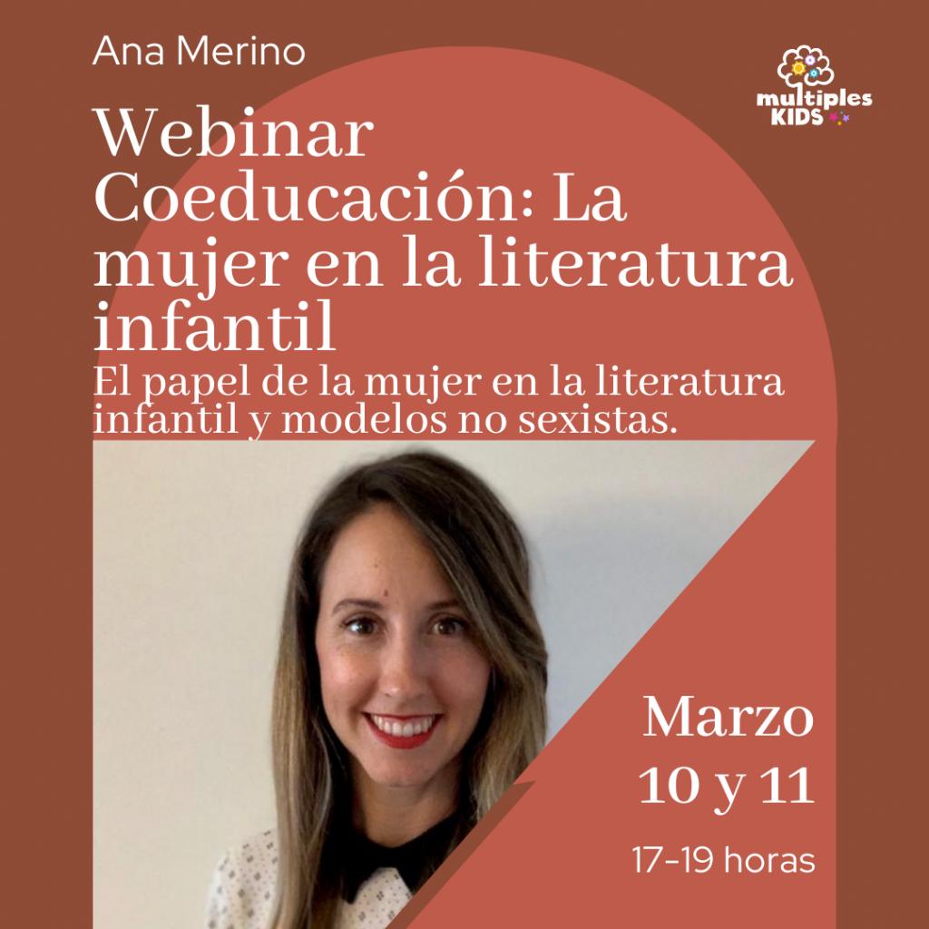 Webinar Coeducación: la mujer en la literatura infantil